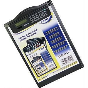 SaKOTA Schreibunterlage mit Rechner A4, schwarz