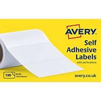 Avery AL03  Labels, 102 x 49 mm 190 Labels Per Sheet, 190 Labels Per Pack