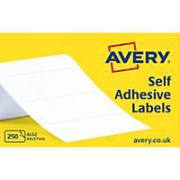 Avery AL02  Labels, 89 x 37 mm 250 Labels Per Sheet, 250 Labels Per Pack