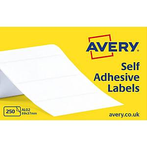 Avery AL02  Labels, 89 x 37 mm 250 Labels Per Sheet, 250 Labels Per Pack