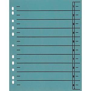 Trennblätter A4, durchfärbt, hellblau, 100 Stück
