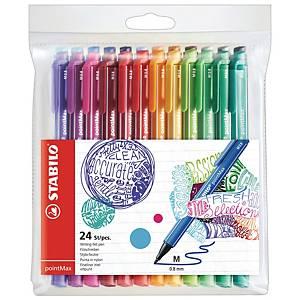 STABILO pointMax 彩色簽字筆 - 24色套裝