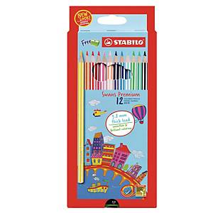 STABILO Swans Premium Coloured Pencil - Box of 12