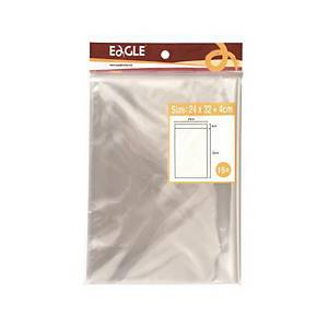 PK15 EAGLE ADHESIVE BAG 240X320 TRANSP