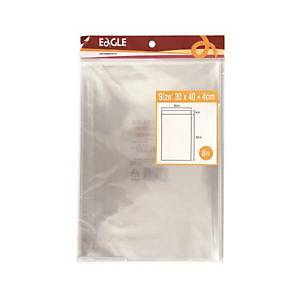 PK8 EAGLE ADHESIVE BAG 300X400 TRANSP