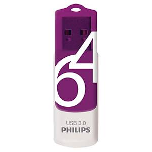 Memoria USB Philips Vivid 64 GB 3.0 viola