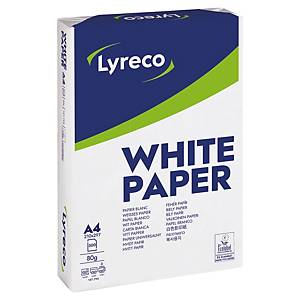 Papier pour photocopie Lyreco, A4, blanc, 1/4 palette à 25 000 feuilles