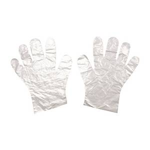 Goodlife Disposable Clear Plastic Gloves - Pack of 100