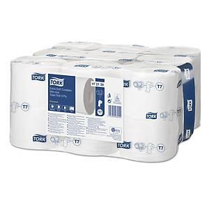 Tork Extra Soft Coreless Mid-size Premium toiletpapier, 3-laags, pak 18 rollen