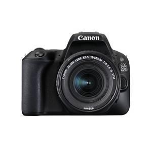 CANON fényképezőgép EOS 2000D+EF-S 18-55 IS II, fekete