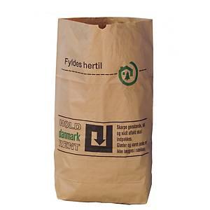 Papirsække, 2-lag, 110 L, 70 x 100 cm, brun, pakke a 50 stk.