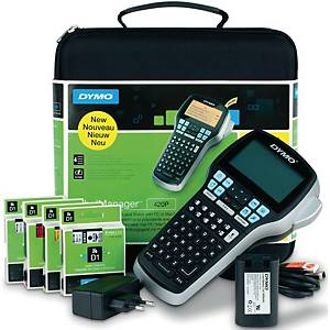 Beschriftungsgerät Dymo LabelManager 420P, im Koffer, schwarz