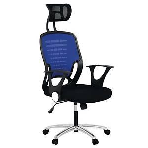 ACURA เก้าอี้ผู้บริหาร รุ่น ZOKO/H ผ้า สีดำ-สีน้ำเงิน