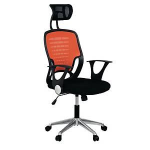 ACURA เก้าอี้ผู้บริหาร รุ่น ZOKO/H ผ้า สีดำ-สีส้ม