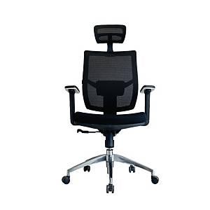 WORKSCAPE เก้าอี้ผู้บริหาร PRATO EM-209E ผ้าตาข่าย สีดำ