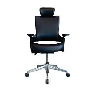 WORKSCAPE เก้าอี้ผู้บริหาร PARMA EM-701EV หนังเทียม สีดำ