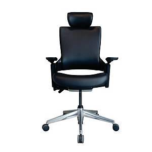 WORKSCAPE เก้าอี้สำนักงาน PARMA EM-701DV หนังเทียม สีดำ