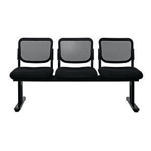 WORKSCAPE ZR-1005/3 WAITING CHAIR 3 SEATS MESH FABRIC BLACK