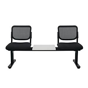 WORKSCAPE ZR-1005/2TM WAITING CHAIR 2 SEATS MESH FABRIC BLACK