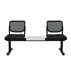 WORKSCAPE เก้าอี้นั่งพักคอย ZR-1005/2TM  2 ที่นั่ง มีโต๊ะกลาง สีดำ
