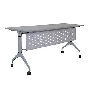 METAL PRO LS-718-120PLUS FOLDING TABLE WITH WHEELS AND MODESTY PANEL 120X60X75CM