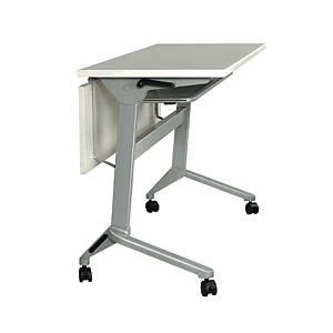 METAL PRO โต๊ะอเนกประสงค์พับได้ มีล้อ+บังตาไม้ รุ่น LS-711-120 120X60X75ซม.