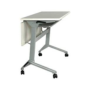 METAL PRO LS-711-180 Folding Table with Wheels and Wooden Modest Panel