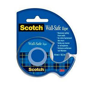 Scotch® Wall Safe Tape 18319165D poster plakband, 19 mm x 16,5 m, met dispenser