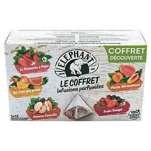Infusion parfumée Eléphant - 5 variétés - 50 sachets pyramides