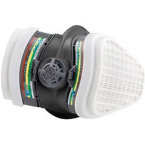 Meia máscara reutilizável 3L Elipse + filtro ABEK1P3 - tamanho M/L