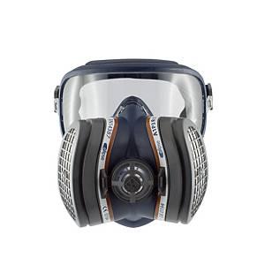 Máscara completa reutilizável 3L Integra + filtro A1P3 - tamanho M/L