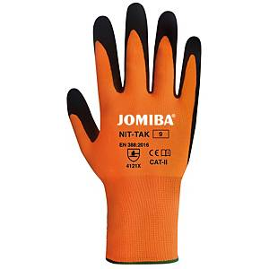Caja de 12 pares de guantes táctiles Jomiba Nit-Tak - talla 10