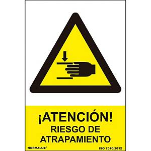TRAPPING RISK SIGN 21X30CM