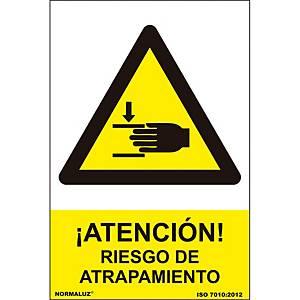 Señal  riesgo atrapamiento  - PVC - 0,7 mm 21 X 30