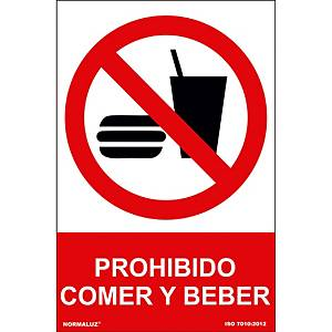 FOOD AND DRINKS ARE FORBIDDEN SIGN 21X30