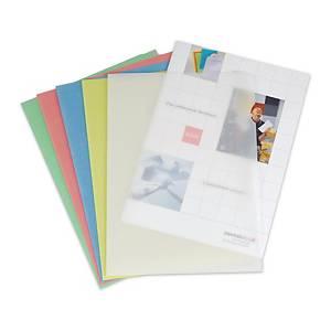 Elco Ordo Transparant L-map, wit, per doos van 100 mappen