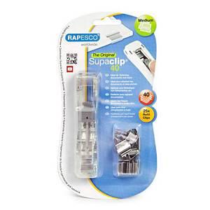 Rapesco Supaclip® 40 papierklemsysteem, roestvrij staal