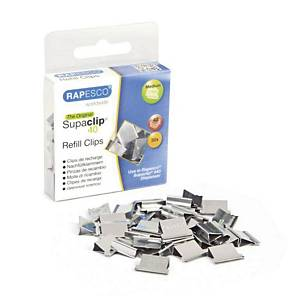 Navullingen Rapesco Supaclip® 40 papierklemmen, doos van 50 stuks