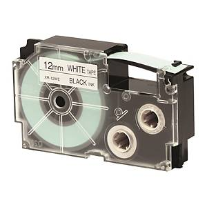 CASIO XR-12WE1 Tape 12mm x 8m Black on White