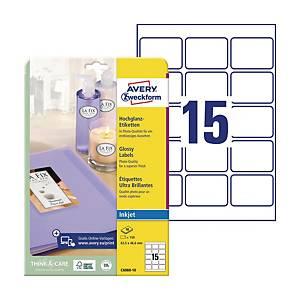 Etykiety błyszczące Avery Zweckform, 63,5 x 46,6 mm, białe, 150 etykiet*
