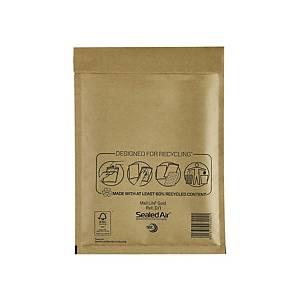 Luftpolstertaschen Mail Lite D/1 Innenmaße: 180x260mm goldgelb 5St