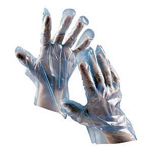 Rękawice foliowe CERVA Duck, niebieskie, 500 sztuk