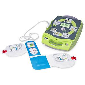 Defibrillatore AED Plus Zoll completo, indicatore ECG, guida in tedesco