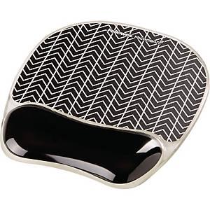 Fellowes 9653401 Photo Gel Mousepad Wrist Support  Chevron