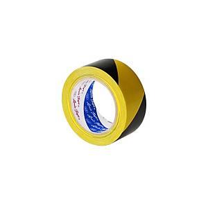 LOUIS เทปตีเส้นพื้น PVC ชนิดแข็ง 48 มิลลิเมตร X 33 เมตร สีเหลือง-ดำ