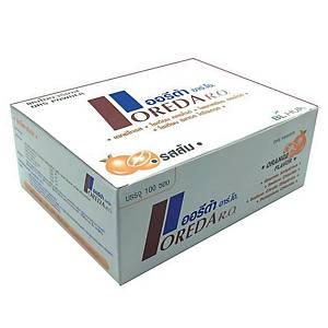 OREDA ORANGE FLAVOURED ELECTROLYTE AND MINERAL POWDER DRINK - BOX OF 100