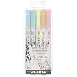 Zebra Mildliner korostuskynä värilajitelma 1 kpl=5 kynää