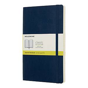 Notes Moleskine w miękkiej, szafirowej oprawie, rozmiar L, 192 strony w kratkę*