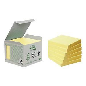 Ekologiczne karteczki samoprzylepne Post-it, żółte, 76 x 76 mm, 6 x 100 szt