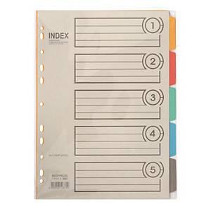 BIGPROS I605 5-PART PVC DIVIDER 5SH A4